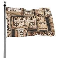 D.ADcustom Custom Wine Corks Flags For Outdoor Indoor Home Decor (4x6 Ft)