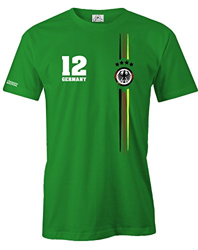 DEUTSCHLAND LOGO RUND - WM 2018 - DLEUXE - HERREN T-SHIRT Grün