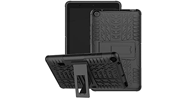 black Jhxtech Armor Style Hybrid PC TPU Protective Case with