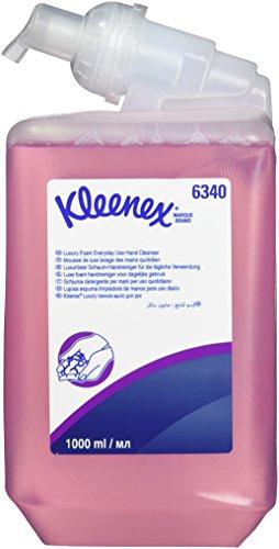 Kleenex 06340040 Essential Foam Everyday Use Hand Cleanser - 1 x 1 L Cassettes, Pink