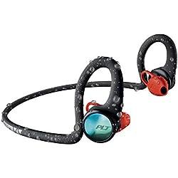 Plantronics BackBeat FIT 2100 Bluetooth - Écouteurs sportifs sans fil, contour de nuque, semi intra-auriculaires, noir