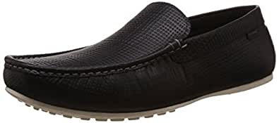 Redtape Men's Black Leather Loafers and Mocassins - 9 UK