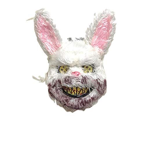 Erwachsenen Miss Für Wunderland Kostüm - TZJ Blutige Kaninchen Maske Maske Maske Horror Gruselkopf Set Halloween Bar Show Requisiten blutiges Kaninchen