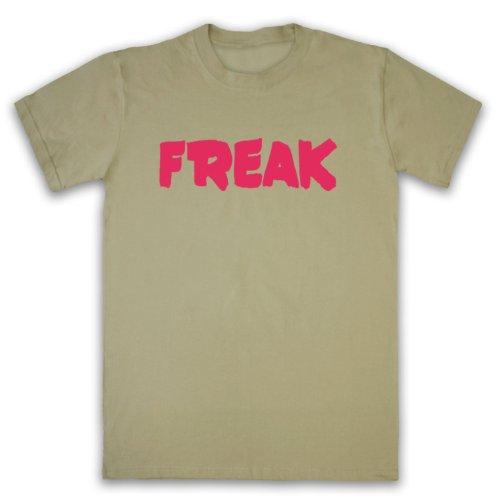 Freak Slogan Herren T-Shirt Beige
