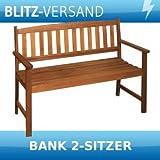 2-Sitzer Gartenbank Promotion aus Eukalyptus FSC Größe: 86 cm H x 110 cm B x 56,5 cm T