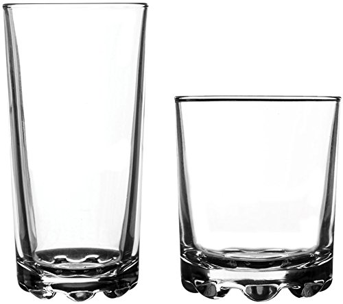 Ravenhead 12-Piece Essential Glassware Hobnobs Drinking Glass Set, Clear