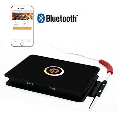 SGODDE drahtloses Fleischthermometer mit Bluetooth-Funktion und App für iPhone und Android-Smartphone zur Überwachung von Braten, Grillfleisch, Ofen, Milch