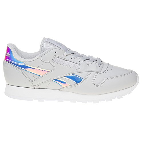 Reebok Classic Leather Iridescent Femme Baskets Mode Gris Gris