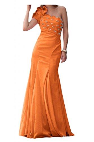 Elegant Mermaid TOSKANA sposa un-spalla Satin stanotte abiti da festa un'ampia Ball Bete extra lungo Arancione