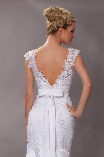 Vintage Meerjungfrau Brautkleid Hochzeitskleid Weiß - 6