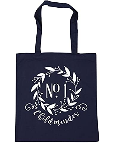 HippoWarehouse Number One Childminder Floral Reef Tote Shopping Gym Beach Bag 42cm x38cm, 10 litres