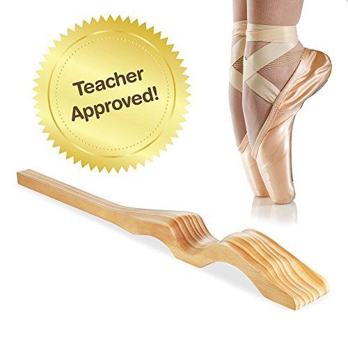 [Neue Version Verkauf] Dance Fuß Keilrahmen handgefertigt aus Holz für Ballet Dancers Fußgewölbe–Frei Stretch Band, Tragetasche, Anleitung–Geschenke für Lehrer Teens (Liebe Ballet Flat)