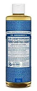 Dr. Bronner's Magic Soaps, Savon de Castille pur, 18-en-1 chanvre menthe poivrée, 16 fl oz (472 ml)