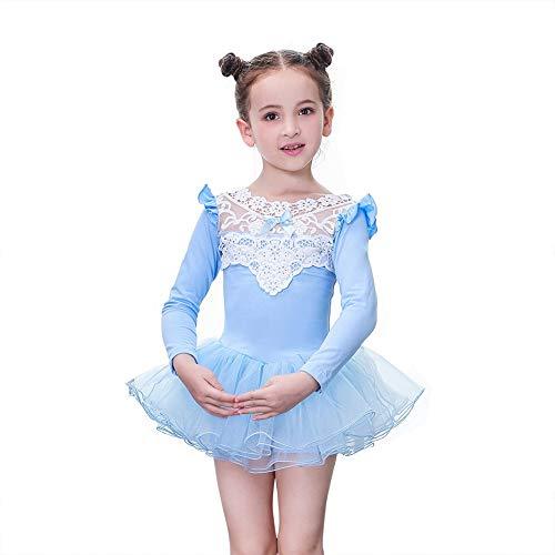 Shiningup Gymnastikanzug Mädchen Balletttanzkleid One Piece Lace Kostüme für Kind - Lace Unitard Tanz Kostüm