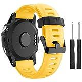 SUPORE Garmin Fenix 3 Correa de Reloj, reemplazo Respirable Suave del silicón Pulsera Hermosa Deporte y edición para Fenix 3/