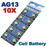 [Envio GRATIS] 10 x AG13 LR44 G13-A D303 L1154 L1154F alcalina pila de botón // 10 x AG13 LR44 G13-A D303 L1154 L1154F Alkaline Button Cell Battery