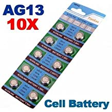 [Envio GRATIS] 10 x AG13 LR44 G13-A D303 L1154 L1154F alcalina pila de botón // 10 x AG13 LR44 G13-A D303 L1154 L1154F Alkaline Button Cell
