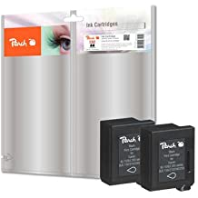 Peach PI100-189 enajenamiento cartucho para Lexmark, Canon, IBM, Epson, Konica MiNolta, Brother, Ricoh, Apple BC-02 bk - negro (paquete de 2)
