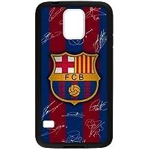 Generic Retro del FC Barcelona Logo fijación a presión rígida de plástico funda para Samsung Galaxy S5Mini
