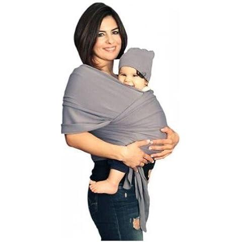 yogabellies® Certificado de seguridad de bebé sling Wrap   Super suave, 100% algodón orgánico manta para bebé   fabricado en Reino Unido   carrito de bebé recién nacidos y lactantes   libre sombrero, bolsa y eBook   garantía de por vida   ideal para