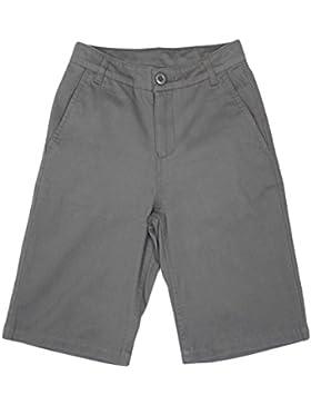 Bienzoe Chico Uniformes escolares Algodón adjustable Cintura Bermudas Pantalones cortos