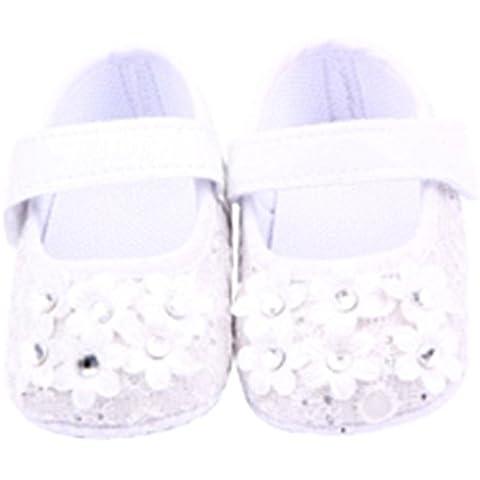 Blaux Cinta de la niña recién nacida mágico zapatos del pesebre Prewalker antideslizante de la zapatilla de deporte de la flor de pisos