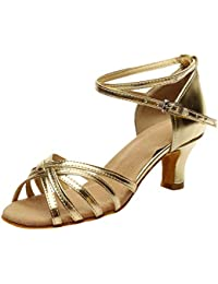 LILICAT✈✈ Fashion Mujer Color Moda Rumba Waltz Prom Ballroom Salsa Latina Zapatos de Baile Sandalias 2019 Tacón Alto Cruzado para Hebilla de Zapatos Zapatos Latino Sandalias Zapatos de Baile