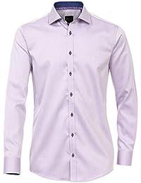 Venti Slim Fit Langarmhemd Black Edition flieder melange 172661800-950