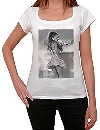 Ariana Grande 2, tee shirt femme, imprimé célébrité,Blanc, t shirt femme,cadeau