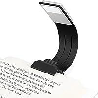 Lampe de Lecture USB, Etmury Lampe Livre LED Rechargeable Lampes-clips Réglable 4 Luminosité Lampe Pince Pliable pour Livres, eReaders, Kindle, iPad, Voyage, Ordinateurs Portables,etc. (Noir)