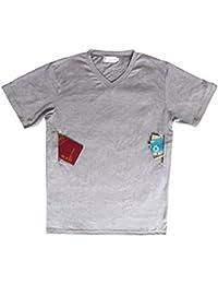 Clever Travel Companion V-Neck T-Shirt with 2 Secret Pockets