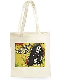 Bob Marley No Woman No Cry, Bolsa de Compras para ir de Compras, Picnic, Almacenamiento en el Hogar y Escuela, tote bag