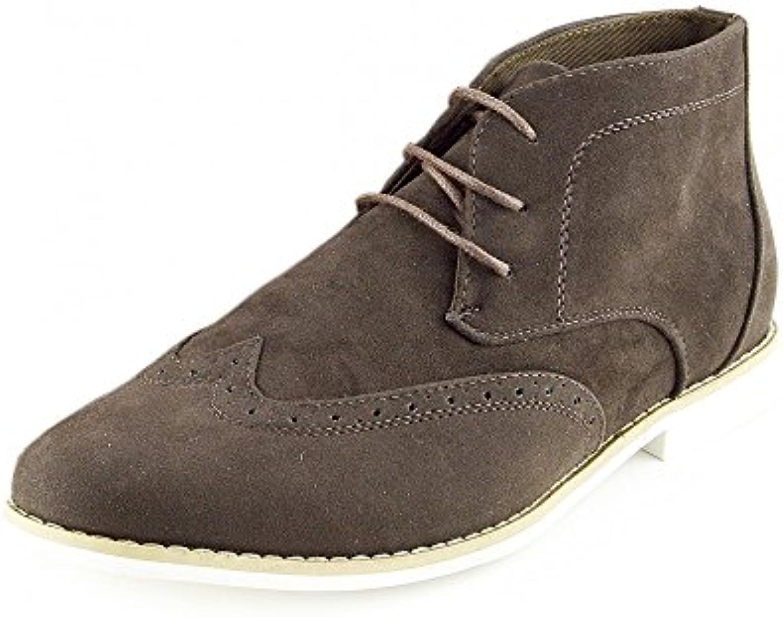 Kick Footwear Mens Lace Up Desert Boots Mens Lace Up Boots Desert Boots Mens Smart Formale Schuh