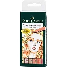 Faber-Castell Pitt Artist Pen - Rotuladores de tinta china 6 unidades), colores de tonos de piel
