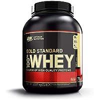 Optimum Nutrition Gold Standard Whey Eiweißpulver (mit Glutamin und Aminosäuren, Protein Shake von ON), French Vanilla Crème, 73 Portionen, 2.27kg