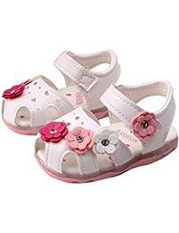 Sandalias niña,Malloom Zapatillas Zapatos Planos de Chicas Flor Sandalias para niñas Calzado Zapatos de Vestir Zapatos Princesa
