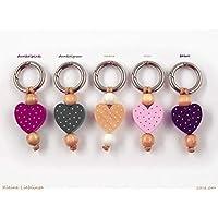b81f1f826da506 Schlüsselanhänger - mit Namen möglich - Kinder - Erwachsene - Taschenbaumler  - Herz - Schlüsselring -