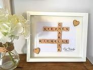 Our Family Scrabble Name Frame/Gift