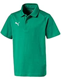 PUMA Kinder Liga Casuals Polo Jr T Shirt, Verde (Pepper Green-Puma White