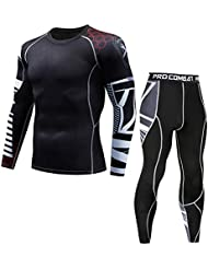 f9ae92e44c1c2c Plot Thermounterwäsche Funktionswäsche Herren Skiunterwäsche Winter Suit  Ski Thermo-Unterwäsche Set Thermowäsche Unterhemd + Unterhose