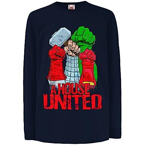 N4412D Bambini t-shirt con maniche lunghe A House United!