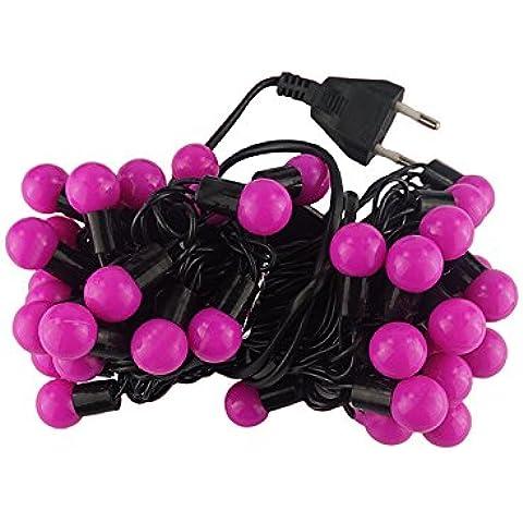 Lbcvh Halloween cadena Navidad luces LED para la decoración del hogar impermeable al aire libre orb linterna lámpara estroboscópica a cadena rosa para el árbol de Navidad y el patio