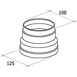 TUBO CAPPA ASPIRANTE CUCINA Giunzione Rettangolare 150 x 70 mm F 126
