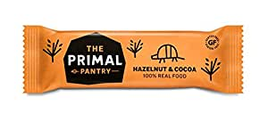THE PRIMAL PANTRY Hazelnut & Cocoa Raw Paleo Bar 45g (PACK OF 18)