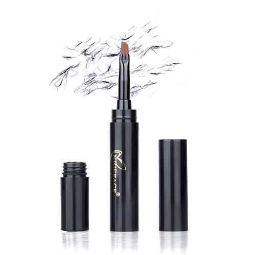 Cooljun eyebrow++ extension gel,Extensions de sourcils 3D imperméables Brosse à fibres de gel pour le renforcement des cheveux et des sourcils