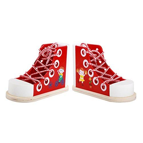Toyvian Portalápices Infantil Madera Forma Zapato