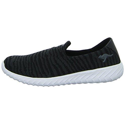 KangaROOS  Kaboo 4000, chaussons d'intérieur femme black/ dk grey