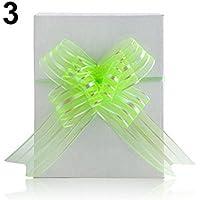 Gemini_mall Große 50 mm-Schleifenbänder (10er Pack), Weihnachten, Hochzeit, Geschenkband. Einheitsgröße grün