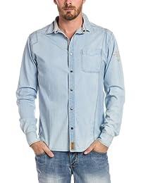 Timezone - Chemise casual Homme - 27-5003 Denim longsleeve shirt