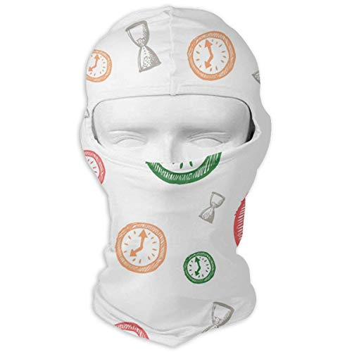 Pizeok Windproof Balaclava, Clock Full Face Mask Hood for Hunting Cycling Fashion20